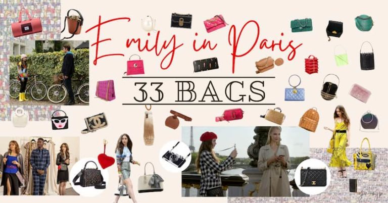 Emily in Paris exact the all 33 bags , brand , models